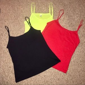 LOT of 3 Tank Tops Size SM Adjustable